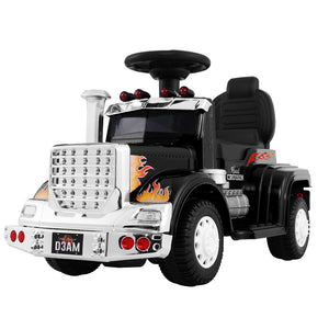 Kids Ride On Car Electric Toy Battery Operated Truck Childrens Black - Afterpay - Zip Pay - Free Shipping - Dodosales -