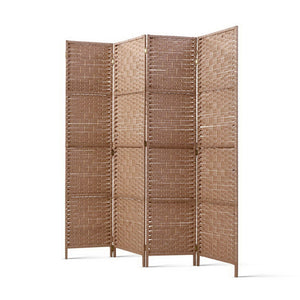 4 Panel Privacy Screen Room Divider Folding Partition Stand Home Office Rattan - Afterpay - Zip Pay - Free Shipping - Dodosales -