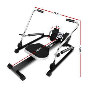 Resistance Rowing Exercise Machine Oil Cylinder System Rower Fitness Cardio - Afterpay - Zip Pay - Free Shipping - Dodosales -