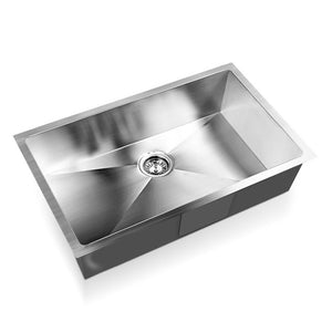Stainless Steel Basin Kitchen Laundry Bowl Strainer Waste Square 70 x 45cm