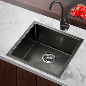 51cm Sink 304 Stainless Steel Nano Kitchen Laundry Basin Tub X-Flume Satin Coat - Afterpay - Zip Pay - Free Shipping - Dodosales -