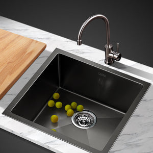 51cm Sink 304 Stainless Steel Nano Kitchen Laundry Basin Tub X-Flume Satin Coat