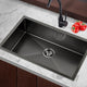70cm Sink 304 Stainless Steel Nano Kitchen Laundry Basin Tub X-Flume Satin Coat