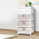 White 3 Basket Storage Unit Drawers Cabinet Bedroom Cupboard Assembled - Afterpay - Zip Pay - Free Shipping - Dodosales -