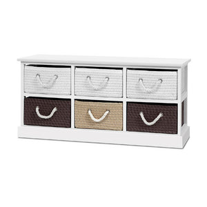 6 Basket Storage Bench Shoe Organiser Drawers Chest Cabinet Rack Box Shelf Stool