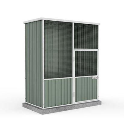 Brand New Absco Chicken Coop Bird Aviary Flat Roof 1.52MW X 0.78MD X 1.80MH 30 yrs Warranty - Green - Afterpay - Zip Pay - Free Shipping - Dodosales -