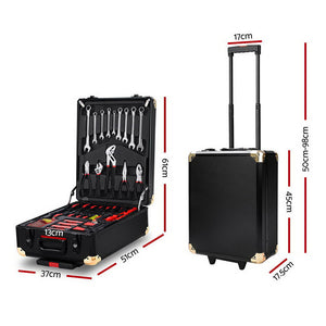 816pcs Tool Kit Trolley Case Set Mechanics Box Toolbox Portable Black - Afterpay - Zip Pay - Free Shipping - Dodosales -
