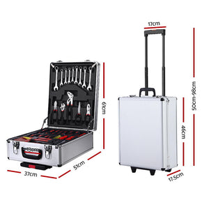 786pcs Tool Kit Trolley Case Set Mechanics Box Toolbox Silver - Afterpay - Zip Pay - Free Shipping - Dodosales -