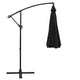 Black Outdoor Umbrella Shade Canopy Cantilevered Parasol Free Standing - Afterpay - Zip Pay - Free Shipping - Dodosales -