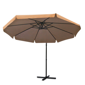 Beige Cantilevered Outdoor Umbrella Shade Canopy Parasol Free Standing - Afterpay - Zip Pay - Free Shipping - Dodosales -