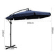 Navy Blue Cantilevered Outdoor Umbrella Shade Canopy Parasol Free Standing - Afterpay - Zip Pay - Free Shipping - Dodosales -