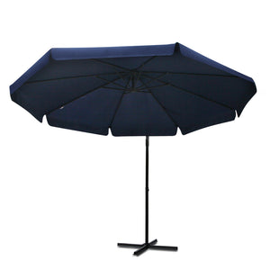 Navy Blue Cantilevered Outdoor Umbrella Shade Canopy Parasol Free Standing NEW - Afterpay - Zip Pay - Free Shipping - Dodosales -