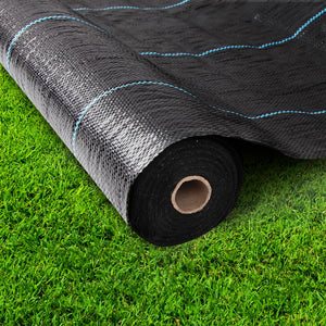 200M Weed Control Mat Weedmat Matting Woven Fabric Prevent Weeds