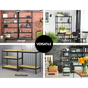 4x Warehouse Rack Shelving Steel Frame Garage Storage Shelf Unit Boltless 5 Tier - Afterpay - Zip Pay - Free Shipping - Dodosales -