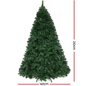 2.1M Christmas Tree LED Multicolour Lights Xmas Decorations Green Home Decor