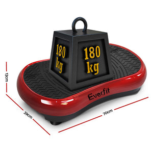 Everfit Vibration Machine Plate Platform Body Shaper Home Gym Fitness Maroon - Dodosales