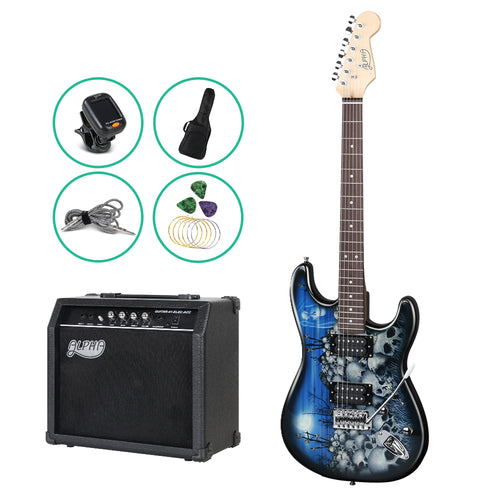NEW Electric Guitar Carry Bag 25W Amplifier AMP Whammy Bar Musical Instrument - Groom Apparel International - GroomsmenGift - Mens Gift - Best Men Gift - Father Gift - Father - Men  - Graduation - 18th Birthday-