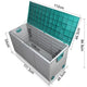 290L Outdoor Storage Box Lockable Weatherproof Garden Deck Toy Shed Green - Afterpay - Zip Pay - Free Shipping - Dodosales -