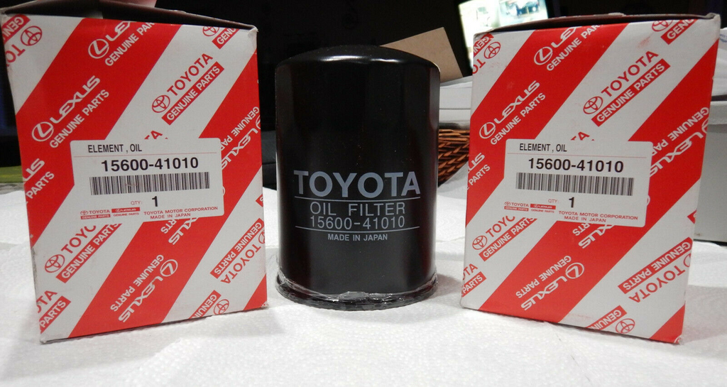 NOS OEM Toyota Land Cruiser Oil Filter 15600-41010   FULL SIZE Canister Style now NLA / Disc.  in USA or CANADA   F 1.5, 2F, 3FE, 1FZ-FE  1969 - 4/96
