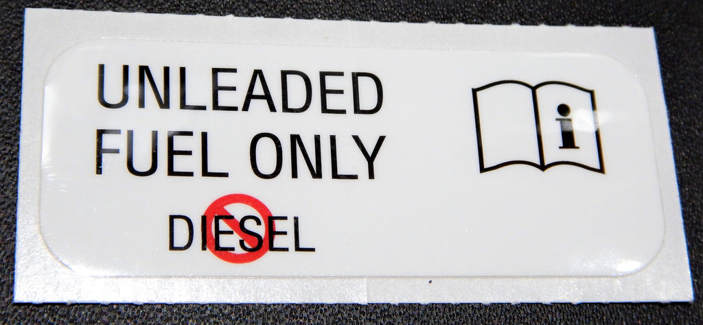 UNLEADED FUEL ONLY NO DIESEL Decal Toyota  Label  F 1.5 , 2F , 3FE  , 1FZ-FE FJ40 ,FJ43 ,  FJ45,  FJ55 , FJ60, FJ62 , FJ80