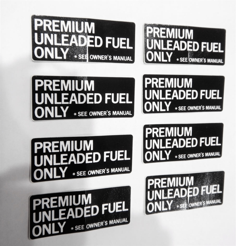 PREMIUM  UNLEADED FUEL ONLY Decal Toyota  Label  F 1.5 , 2F , 3FE  , 1FZ-FE FJ40 ,FJ43 ,  FJ45,  FJ55 , FJ60, FJ62 , FJ80