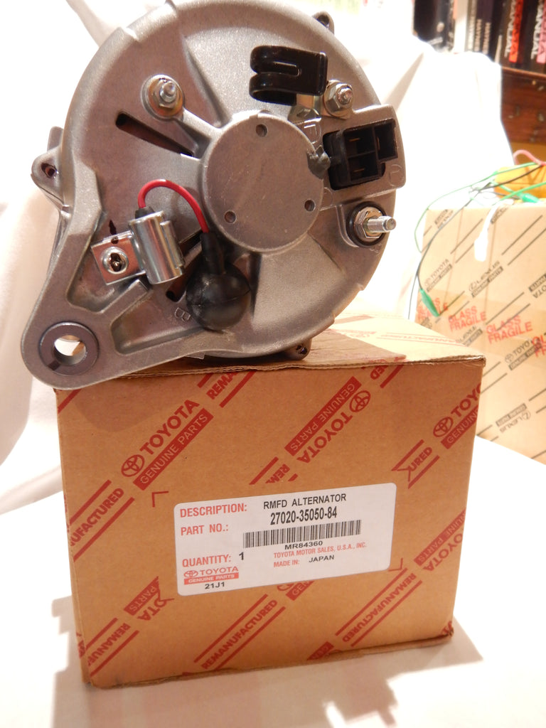 NOS OEM TOYOTA NipponDenso 4Runner Pickup Hilux Alternator 22R 22RE 27020-35050 Fits 8/80-7/88