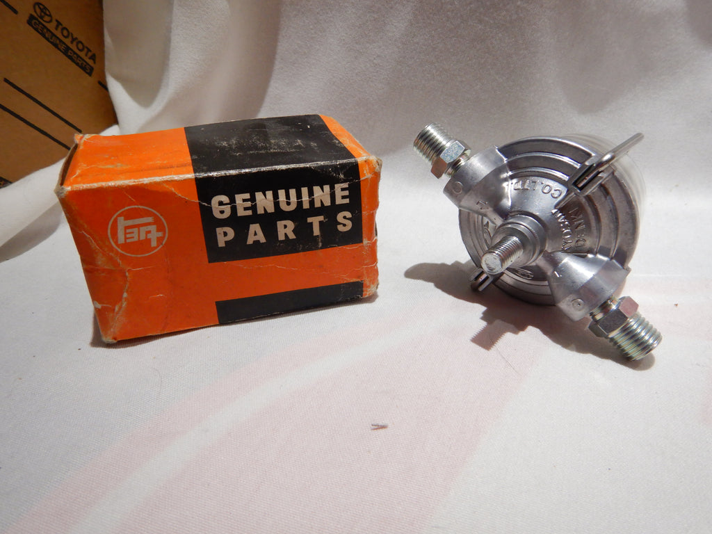 NOS OEM TOYOTA Glass Bowl  Fuel Filter , Spring , Top Cover , Retainer , both New Seals and orings too , fits Early  FJ25 , FJ40  1956- 1967 & Later some modles