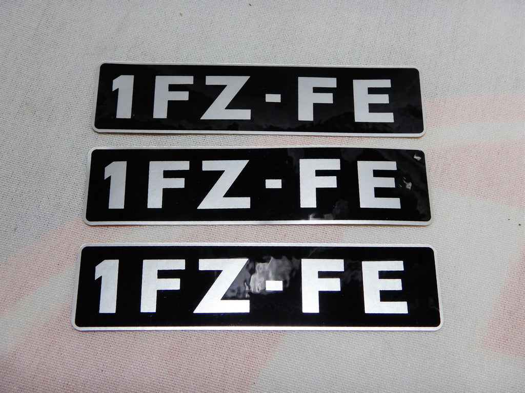 NOS 1FZ-FE  Cylinder Head Valve Cover  FOIL THICK TYPE Decal Label OEM TOYOTA