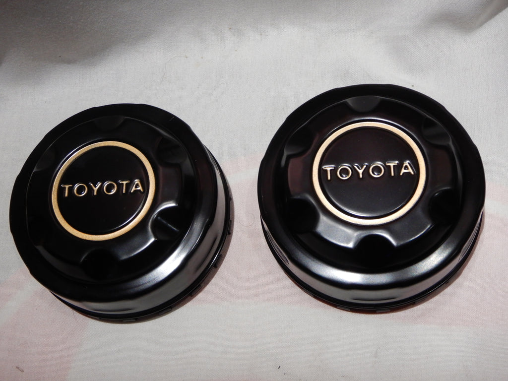 NEW Black OEM TOYOTA Center Cap Set FJ40 , FJ60 , FJ80