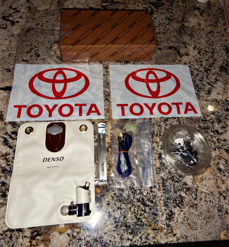 Rear Washer   OEM TOYOTA  NipponDenso Rear Washer Reservoir Bag / bladder  w/ Pump , Sub-Harness, & Green Tint Hose  FJ60 , FJ62 , HJ60 , BJ60