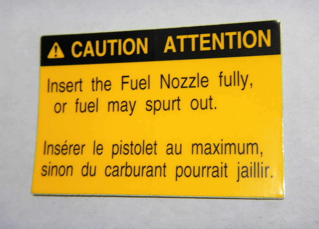 Fuel CATUION   Fuel Door TOYOTA Decal Lable FJ62- Later 1FZ-FE  3FE  2UZ-FE