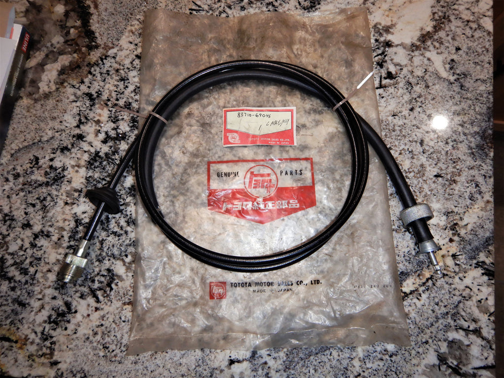 NOS OEM TOYOTA  Speedometer Cable Assy.   ( 1 Piece Type )   FJ40, FJ45, BJ40,   83710-69045  L= 1750mm   Fits 1963-1972