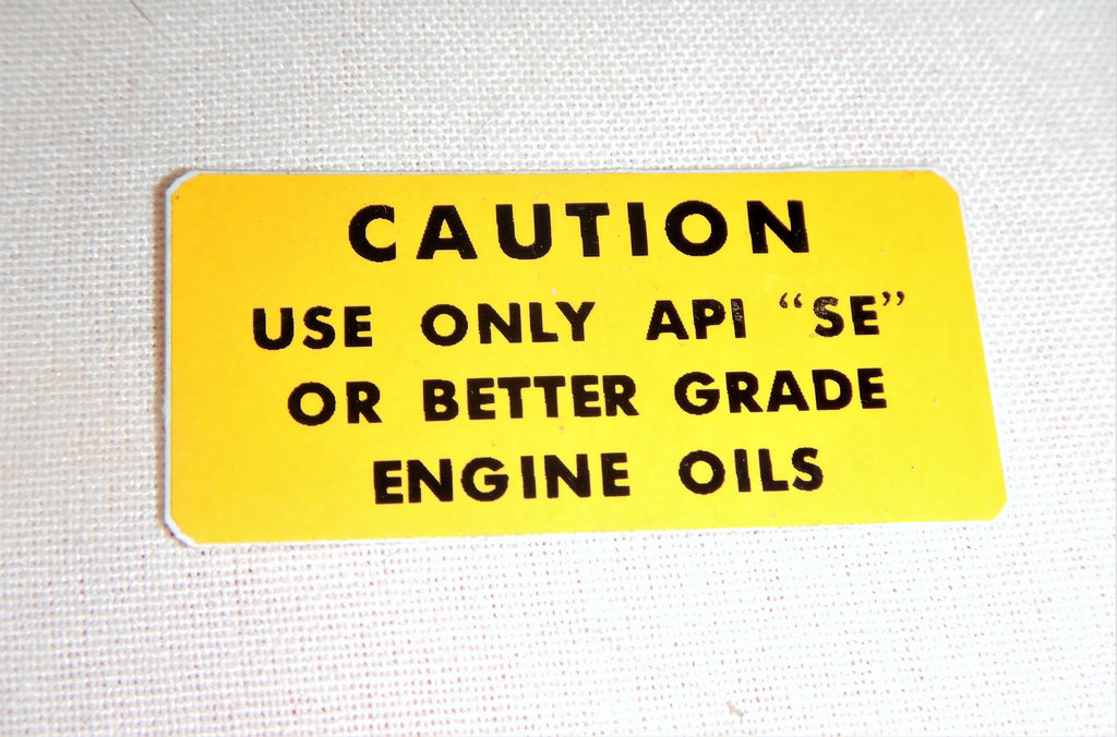 CAUTION ENGINE  OIL Type & Use Decal Toyota Plate  Label  JDM FJ40 , FJ45,  FJ55 BJ40, BJ42 , HJ60 , HJ62 , HJ47 , HJ45 ,