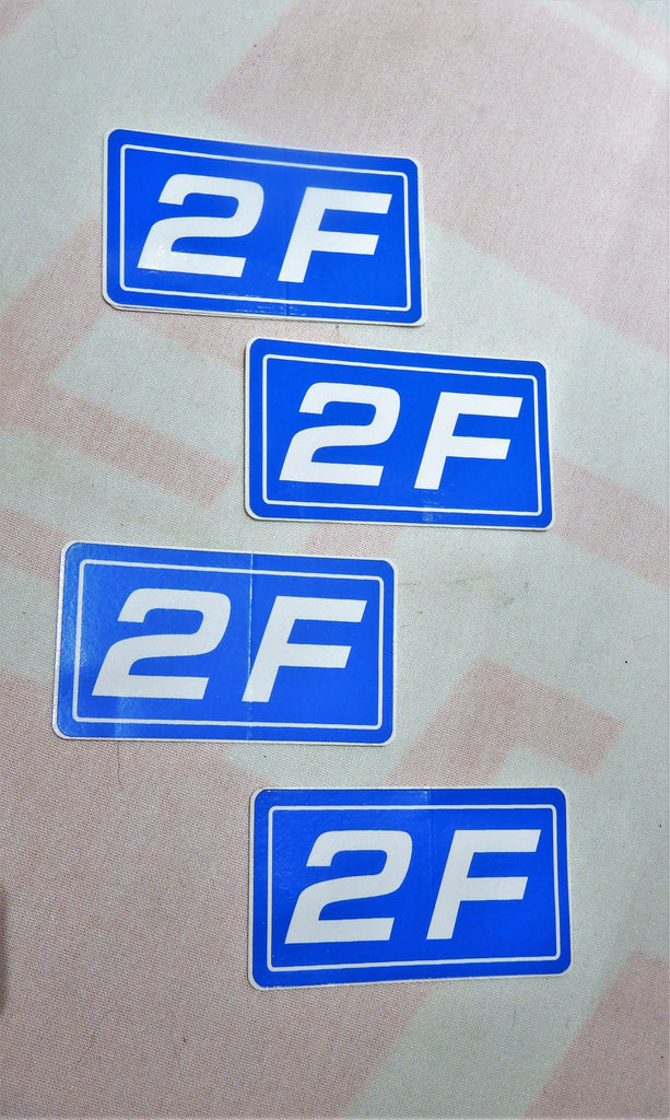 2F Engine Cylinder Head Valve Cover  THICK TYPE Decal Label TOYOTA