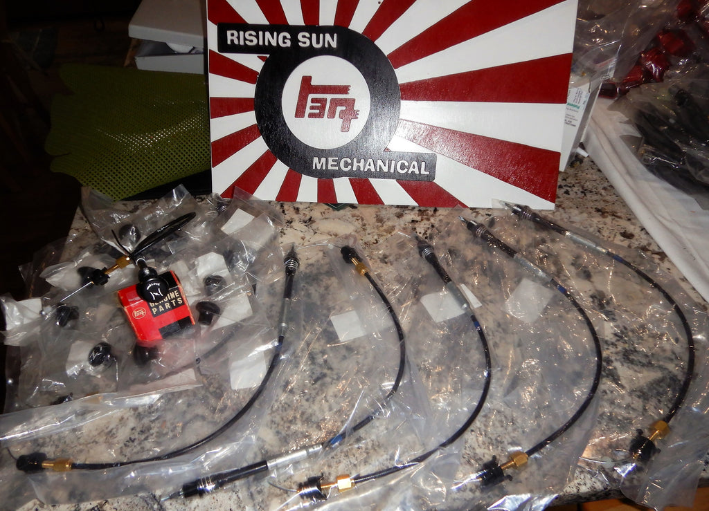 NEW  NON-USA JDM 80 Series Hand Throttle Cable plug and play kit 1/90 - 12/2006  WILL FIT a USA SPEC FJ80 / 80 Series LHD