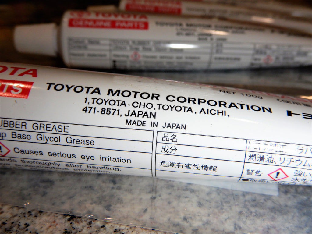 NON-USA OEM TEq Factory Assembly  Genuine TOYOTA Rubber GREASE   Lithium Soap Base