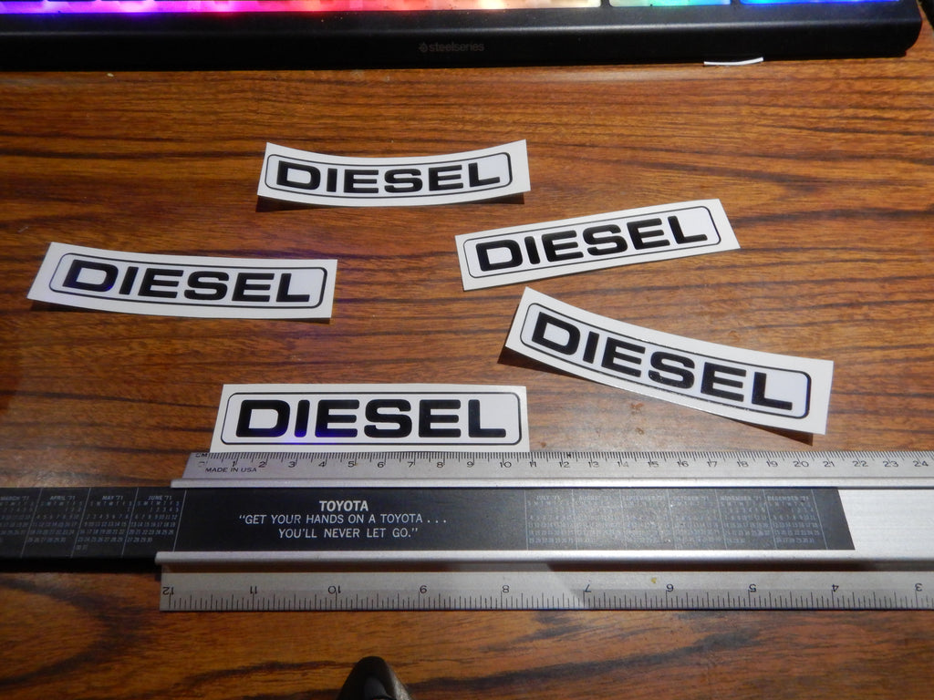 DIESEL FUEL / PETROL DOOR Filler Access Notification Decal  Toyota Plate  Label Under Hood   FJ40 , FJ45,  FJ55 BJ40, BJ42 , HJ60 , HJ62 , HJ47 , HJ45 , FJ80   HZJ80