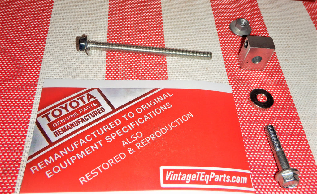 KIT # 2  ( Newly Updated )  100% Toyota Genuine Parts 2F  Drive Belt & Pulley Tension Hardware For  Alternator & Smog Pump Adjustment Feature Restoration & Needed Repairs Kit    1/79-8/87   FJ40, FJ55, FJ60