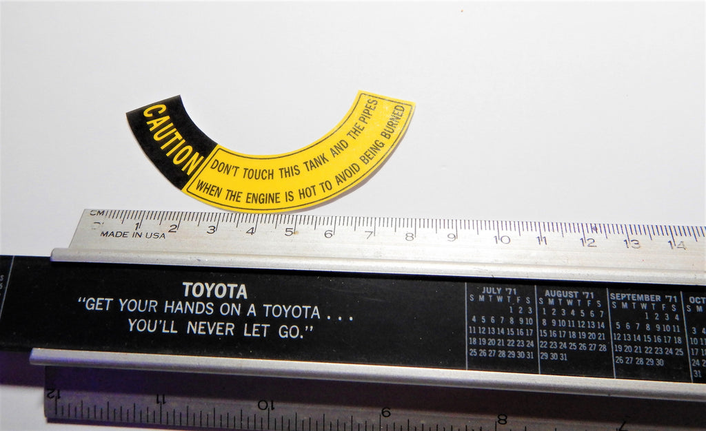 Late Model 2nd Generation Power Steering Pump  Reservoir CAP Decal Toyota Emblem Plate Label  JDM / USa spec. FJ40 , FJ45,  FJ55 BJ40, BJ42 , FJ60, HJ60 , HJ62 , HJ47 , HJ45 , 2F , 3FE, 1HZ , 3B , 12HT