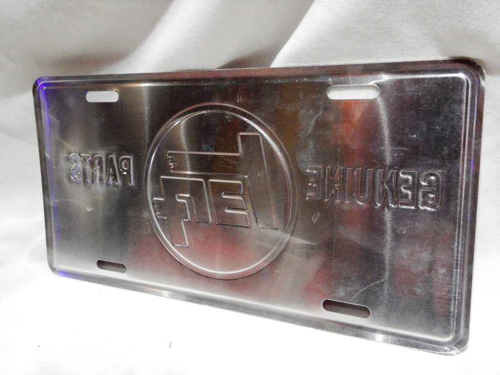RED  TEq TOYOTA GENUINE PARTS  License Plate , Die Stamped Aluminum