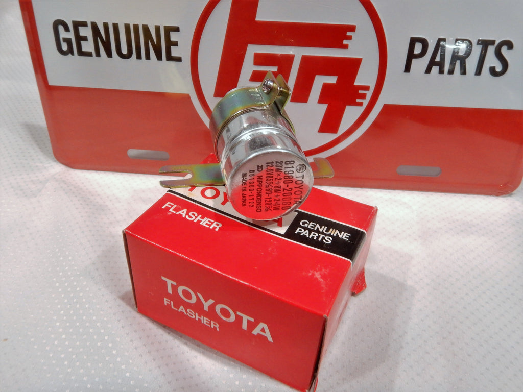 NOS OEM TOYOTA Flasher Can 81980-20060 NipponDenso  FJ45 FJ40 Early Good till 1984 if need be ...