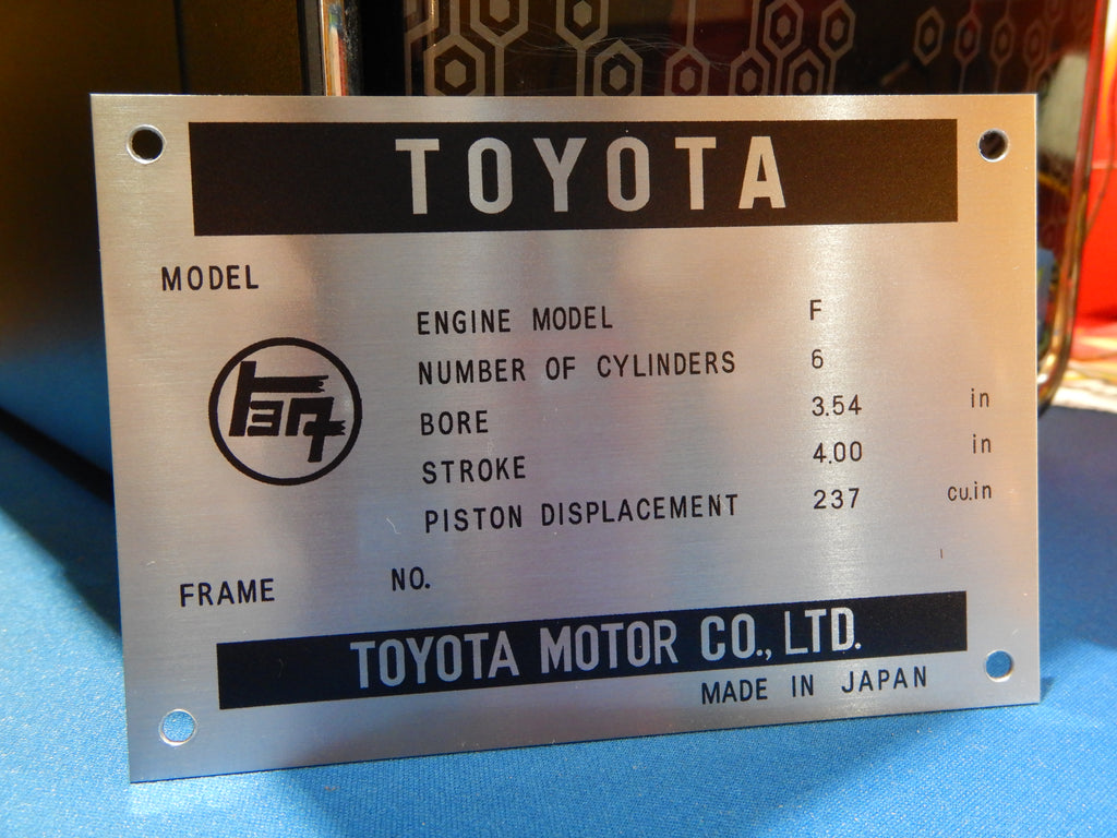 Early  & Late F  1.5  Engine Bay DATA ID Plate