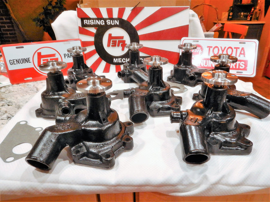 NOS JAPAN MADE OEM TOYOTA Parts Maker Water Pump KIt ALL Made in Japan 1965-12/74     16100-60080