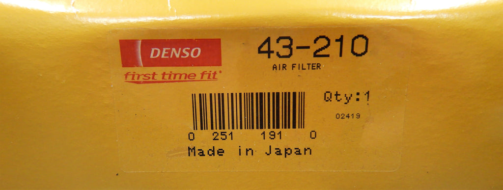 OEM Toyota Parts Maker DENSO NipponDenso  MADE IN JAPAN  Air Filter Assy. Land Cruiser Fj40, Fj55, Fj60  2F