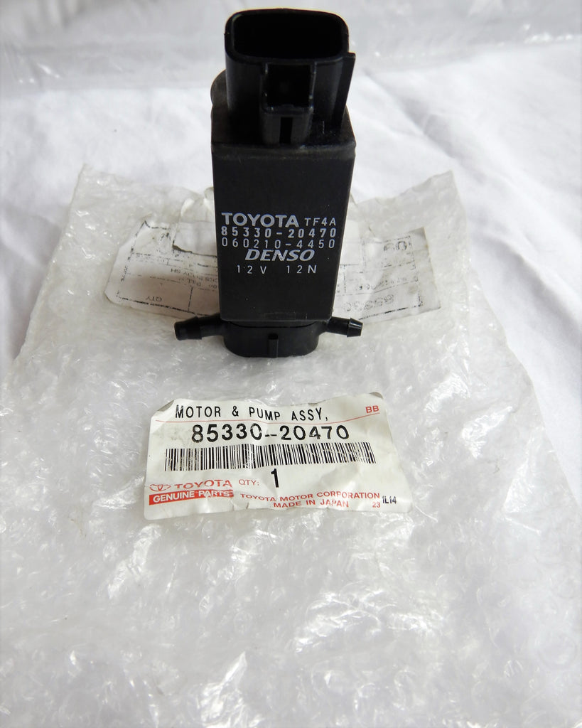 OEM Toyota Wiper Washer Pump Motor Assy.  Fits : Scion, Celica, Echo, Highlander, Made In JAPAN by DENSO /  NIPPONDENSO