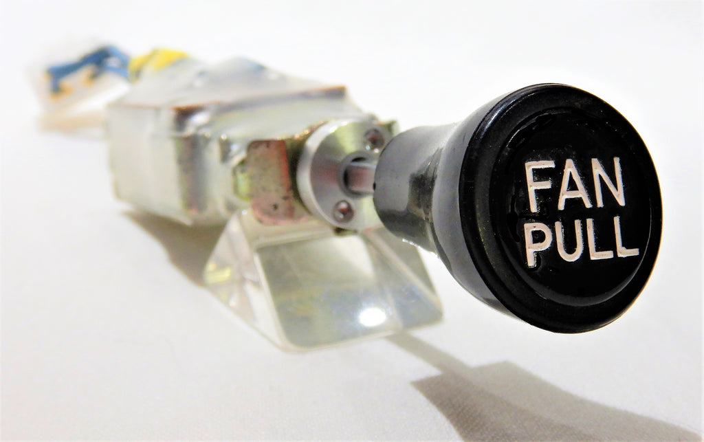 OEM FAN PULL Switch Assy. 87290-60041-R w/ KNOB & NEW OEM Pin wrench retainer Nut / Bolt   1972-12/84  FJ40, FJ55