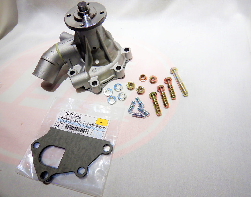 OEM TOYOTA Parts Maker GMB Water Pump KIt ALL Made in Japan ALL OEM TOYOTA Hardware Supplied 16100-61081   W/O Oil Cooler  1975-1980