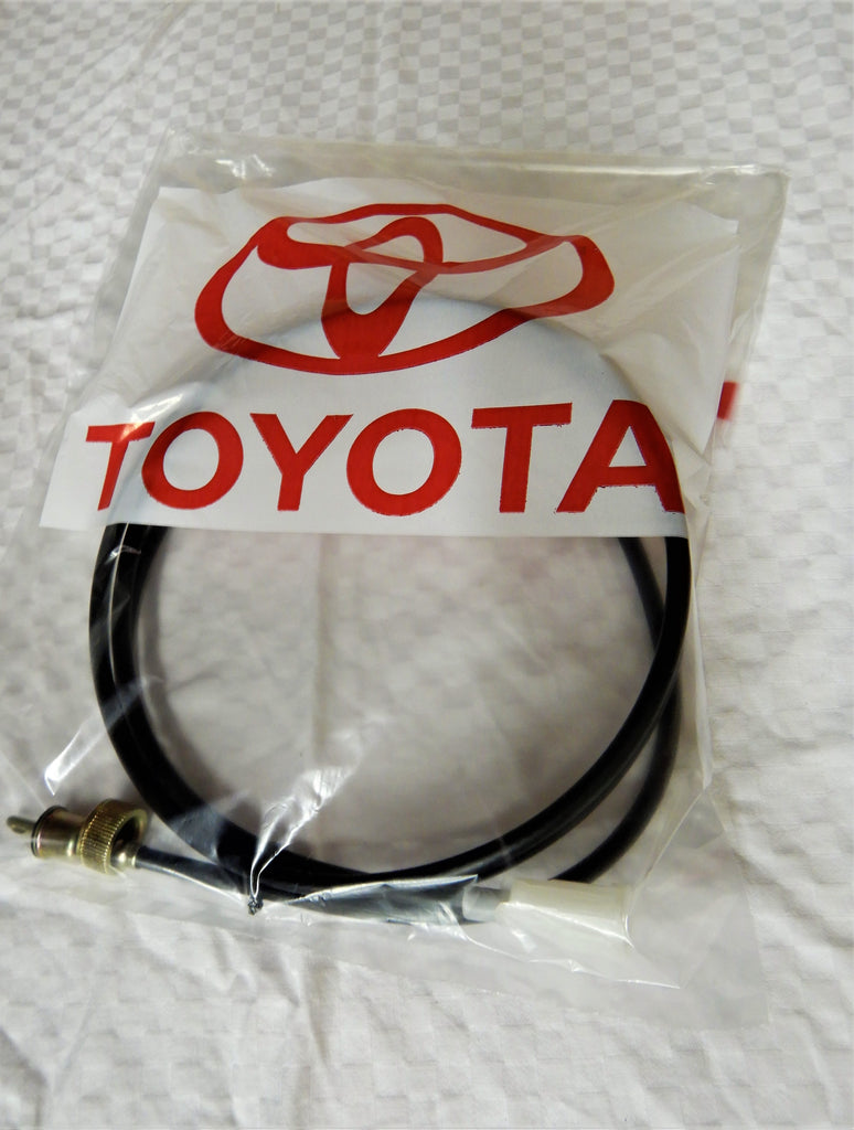 OEM Parts Maker JAPAN Speedometer Cable Assy.   ( 1 Piece Type )   FJ40, FJ45, BJ40, Hj47 , HJ45, BJ46 Bj42   1975- 1984  4Spd , 5 Spd ,  H55F  H42, H41 Transmission      L= 2250mm Long