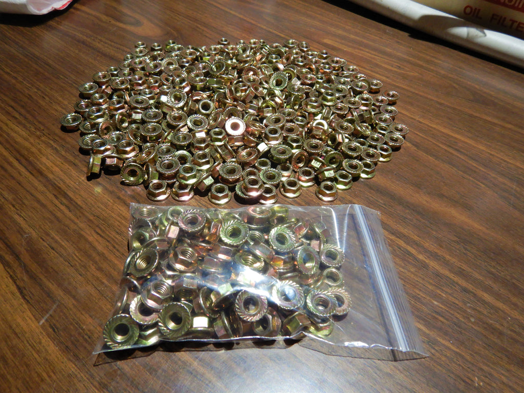 8mm x 1.25 Yellow Zinc Flange Nuts  Grade 10.9   (  J.I.S. )  Bags X  50 Count