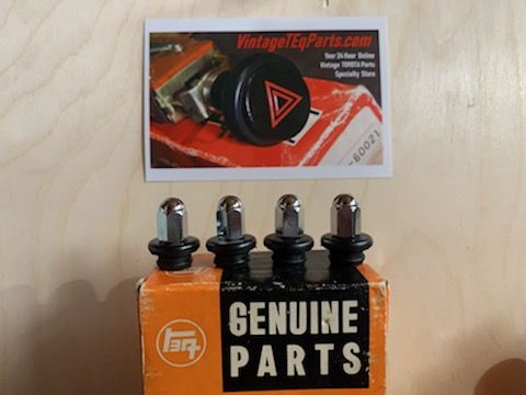 Chrome Finish Siamese F / F1.5  ENGINE Valve Cover Acorn Nuts  90176-08004-RC  & OEM TOYOTA Top Seal Grommet 90210-08010 Kit FJ25 , FJ40  F 1.5  1956 - 12/74